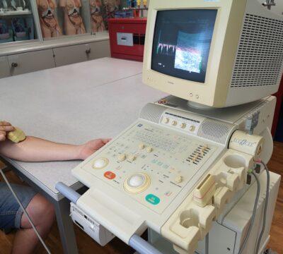 Messen von Blutflussänderungen durch Doppler Ultraschall