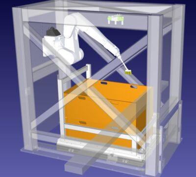 Offline-Optimierung Roboter-Bewegungsbahnen bei Bin Picking Anwendungen