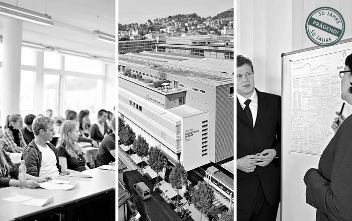 Historische Bilder der Hochschule Luzern - Wirtschaft